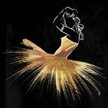 Golden Dress Puff