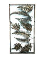 Bladeren Rechtoek - Wanddecoratie - Goud - 120 x 60 cm