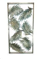 Bladeren Rechthoek - Wanddecoratie - Oud Goud - 120 x 60 cm