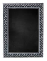 Krijtbord met Gevlochten Houten Lijst - Oud Zwart - 53x53 cm -  Lijstbreedte: 30 mm