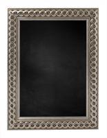 Krijtbord met Gevlochten Houten Lijst - Zilver - 53x53 cm -  Lijstbreedte: 30 mm