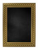 Krijtbord met Gevlochten Houten Lijst - Goud - 53x53 cm -  Lijstbreedte: 30 mm