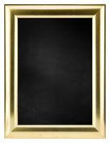 Krijtbord met Halfronde Houten Lijst - Goud - 73x103 cm -  Lijstbreedte: 30 mm