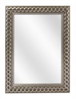 Spiegel met Gevlochten Houten Lijst - Zilver - 73 x 103 cm - Lijstbreedte: 30 mm