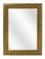 Spiegel met Gevlochten Houten Lijst - Goud - 73 x 103 cm - Lijstbreedte: 30 mm