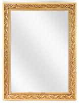 Spiegel met  Polystyreen Lijst - Goud - 56,5 x 56,5 cm - Lijstbreedte: 65 mm