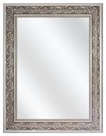 Spiegel met  Polystyreen Lijst - Zilver - 79 x 109 cm - Lijstbreedte: 90 mm - Barok