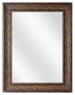 Spiegel met  Polystyreen Lijst - Oud Brons - 79 x 109 cm - Lijstbreedte: 90 mm - Barok